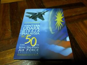 RM1 coin card 50th Royal Malaysian Air Force TUDM 2008 commemorative unc