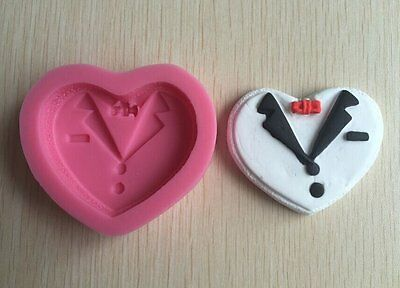 tuxedo Suit cotter 3D Silicone Mold Chocolate Fondant Cake Decorating Tool mould