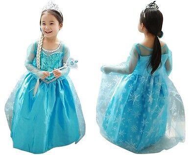 Kids- Girls Dresses Elsa Frozen dress costume Princess Anna party dresses