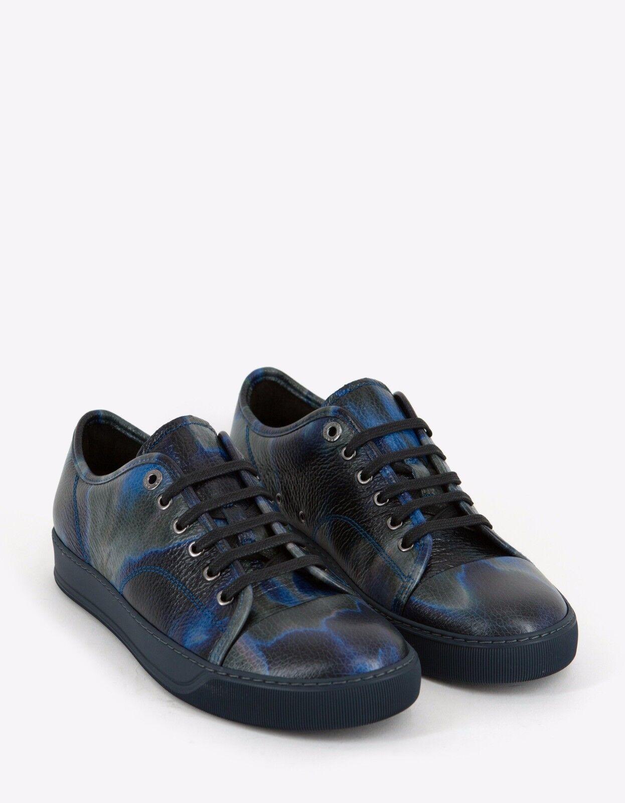 New Lanvin Azul Tye & Dye Dye Dye Print Leather Trainers Talla 5  455 BNWT 7da468