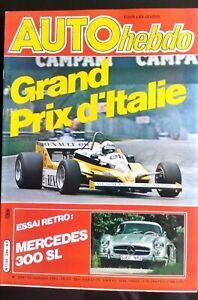 AUTO-HEBDO-284-du-17-09-1981-GP-d-039-Italie-Essai-Retro-Mercedes-300-SL
