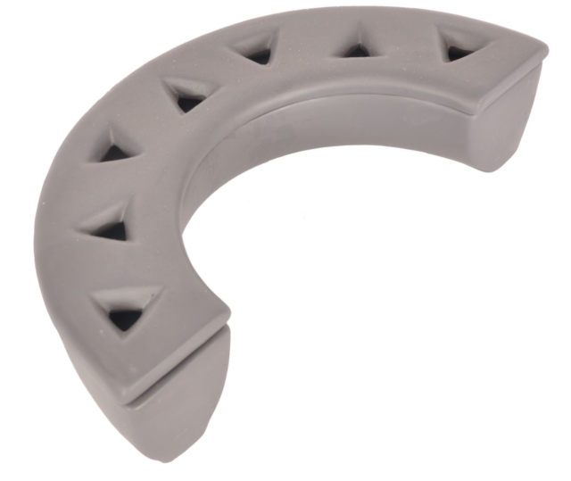 Raum Luftbefeuchter Halbkreis grau Verdunster aus Keramik für Kamin Ofen
