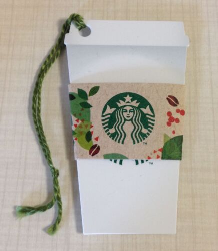 Starbucks Korea 2014 White Cup & Sleeve Card