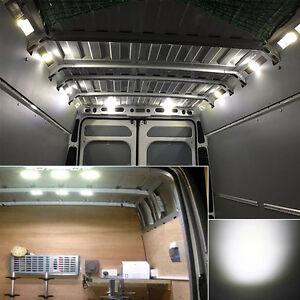 6x ultra d nnes led auto innenbeleuchtung 12v panel licht. Black Bedroom Furniture Sets. Home Design Ideas
