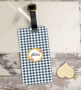 63e4916fae Image is loading Personalised-Luggage-Tags-Travel-Suitcase-Shabby-Chic-Tag-