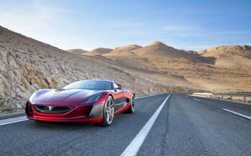 "RIMAC CONCEPT ONE A3 CANVAS PRINT POSTER 16.5""x11.1"""