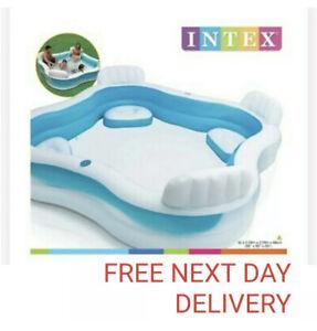 Intex Inflatable Pool Family Lounge Kids Adults Paddling Swimming Seat Pool Ebay