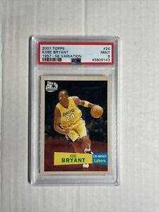 Kobe Bryant PSA 9 Mint 2007 Topps 1957-1958 Variation SP