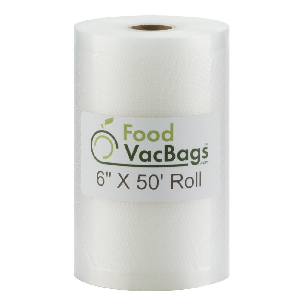 6  x 50' FoodVacBags Vacuum Sealer Roll for Food Saver- Buy More Save More