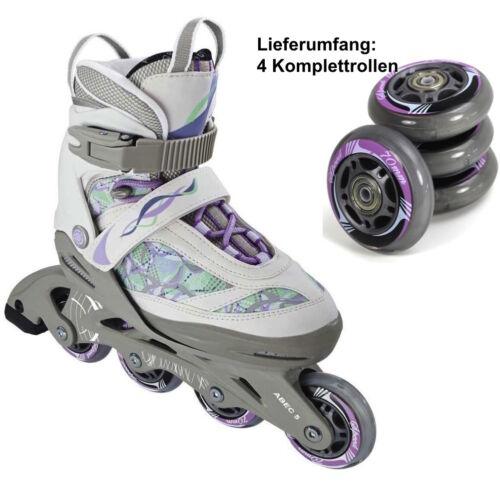 4x SPEED Inliner-Rollen 70 mm ABEC 5 Kugellager Inline-Skates Kinder lila 88118
