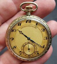 Vintage Gruen verithin pocket watch Louis XVI gold filled Running