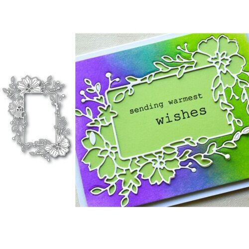 Blumenrahmen Metall Stanzformen Schablone Für Diy Scrapbooking Karten Handwerk