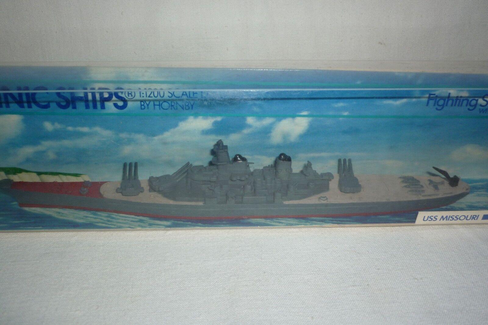MINIC SHIPS - DIECAST BY HORNBY - - - USS MISSOURI - 1 1200 - OVP - (1.BO-5) 449d82