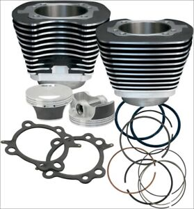 S-amp-S-Cycle-97-034-CI-Big-Bore-Cylinder-Kit-Black-9-7-1-Compression-99-06-Harley