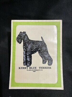 NOS 1968 Vtg Kerry Blue Terrier Dog Decal Larklain ...