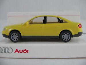 Rietze-Audi-13-225-3-Audi-A6-2-8-quattro-Lim-1997-in-gelb-1-87-H0-NEU-OVP