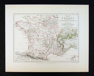 Map Of France Italy Switzerland.1855 Alison Military Map Napoleon Campaigns Of 1793 France Italy