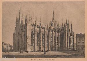 1883 Milano xilografia