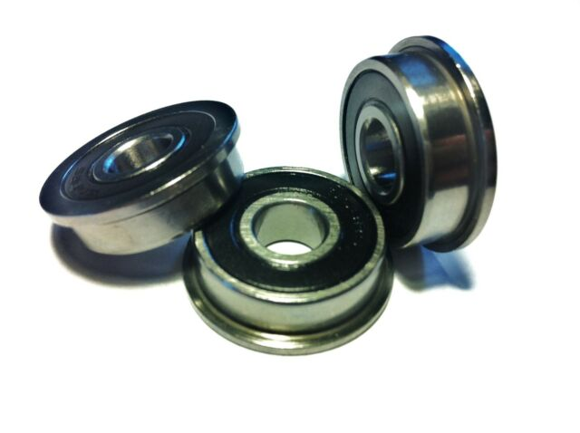 FULL RANGE OF FLANGED, RUBBER SEALED [2RS] MINIATURE BEARINGS..SELECT SIZE