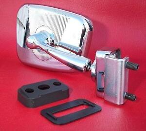 Specchio rettangolare cromato destro per Fiat 500 e varie - car mirror