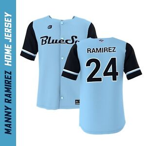 Manny Ramirez #24 Sydney Blue Sox Replica Home Jersey XL