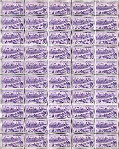 1950 - KANSAS CITY, MISSOURI - Vintage Full Mint Sheet of 50 U.S. Postage Stamps