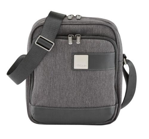 TITAN Power Pack Shoulderbag Umhängetasche Tasche Mixed Grey Grau Schwarz Neu