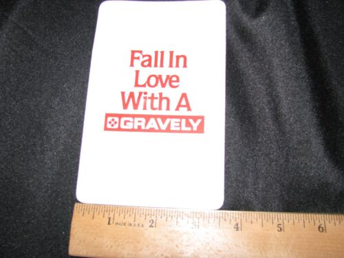 Vtg GRAVELY Pocket Protector Fall in Love with a Gravely NOS