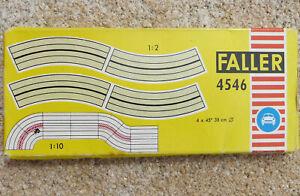 Faller-Ams-4546-4-X-Single-Lane-Curves-Boxed-JU494