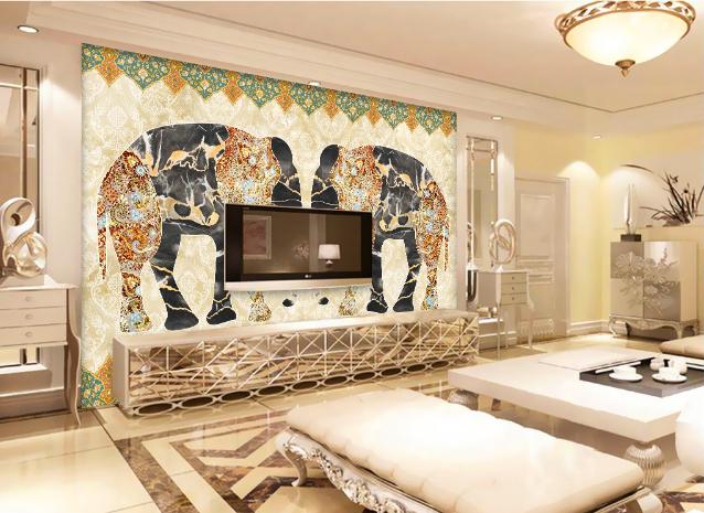 3D Elephant 469 469 469 Wallpaper Murals Wall Print Wallpaper Mural AJ WALL AU Lemon d2504d