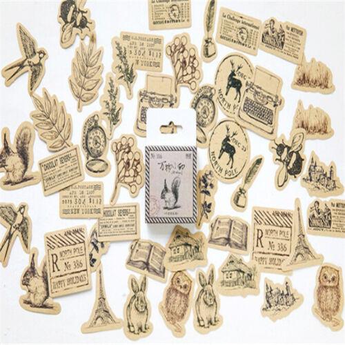 Mini Vintage Paper Sticker DIY Decoration Diary Scrapbooking Label Photo Decor