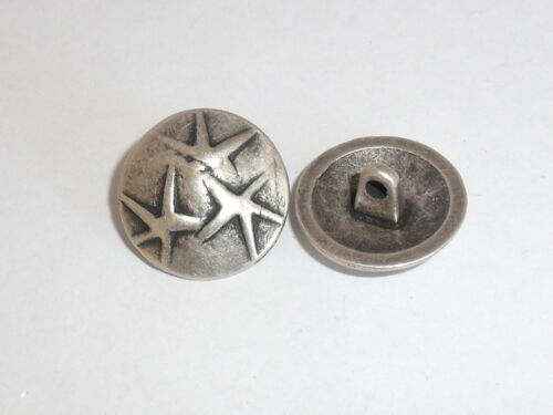 Metallknopf Knopf Ösenknopf Knöpfe  19 mm altsilber NEUWARE rostfrei #217.2#