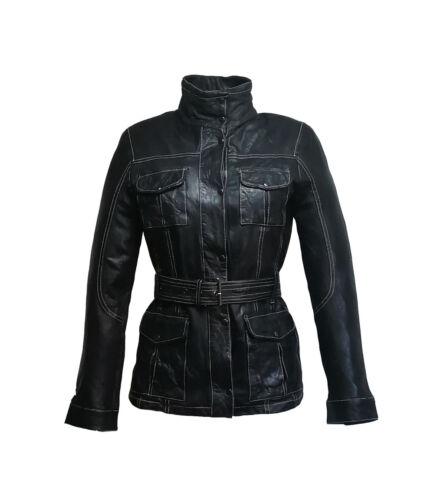 cintura donna con taglia Parka da M Oggetto in pelle nera qwHq70p