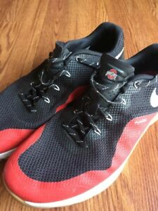 Nike Ohio State Buckeyes Shoes Rare Size 15 Men's Football Big 10 Fly wire
