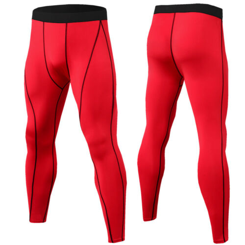 Men/'s Compression Long Pants Basketball Running Gym Dri fit Tights Breathable