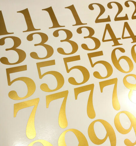 Lot of 40 Metallic Gold Color,Mailbox Numbers Decal Stickers, Century