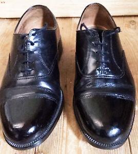 01bb7b3e90d7e Details about Mens Parade Shoes Black Leather Toe Cap RAF Uniform Cadet  British Army Surplus