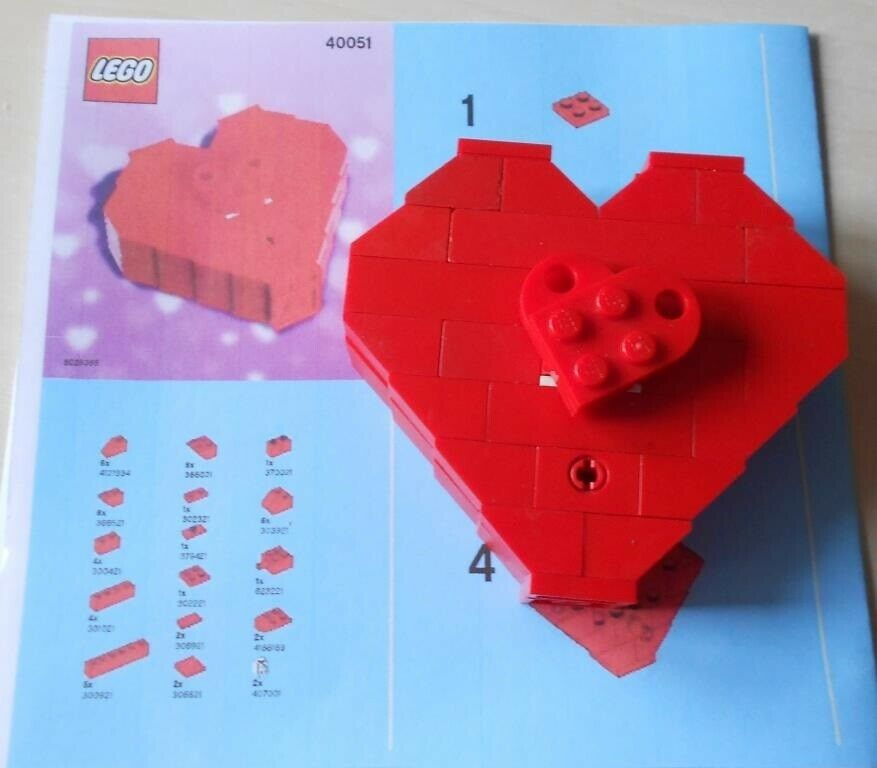 Lego andet, 40051 Valentine's Day Heart