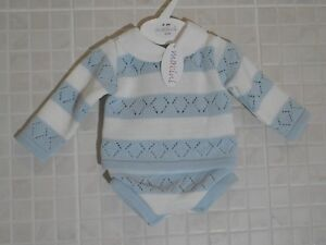 Baby Boys Sailor Romper Spanish Romany Style White Navy 0-3 3-6 6-9 m