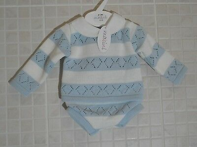 Spanish baby unisex knit romper outfit various sizes romany  BNWT