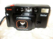 VINTAGE VIVITAR TL 125 TELE / WIDE PHOTO ADJUSTABLE AUTO FOCUS 35mm FILM CAMERA
