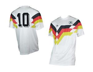 Details zu Deutschland Retro Trikot DFB WM 1990 Home Originals Adidas Serie von 2018 2XL