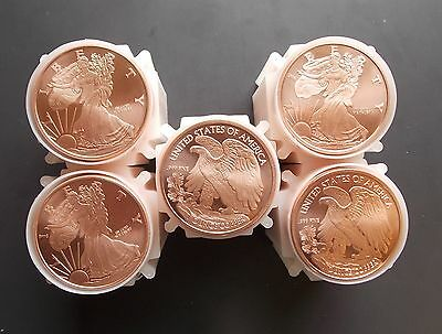 10 Ten Walking Liberty Eagle Copper Bullion Rounds Coins Set Lot of 1//4oz-A