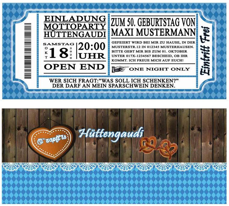 Einladungskarten zum Oktoberfest Hüttengaudi Geburtstag Einladung o-zapft-is 50   | König der Quantität  | Modern