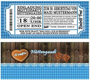 Das Bild Wird Geladen Einladungskarten Zum Oktoberfest Huettengaudi  Geburtstag Einladung O Zapft