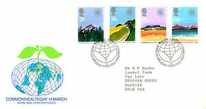 Rationnel 9 Mars 1983 Commonwealth Jour Royal Mail First Day Cover Bureau Shs-afficher Le Titre D'origine