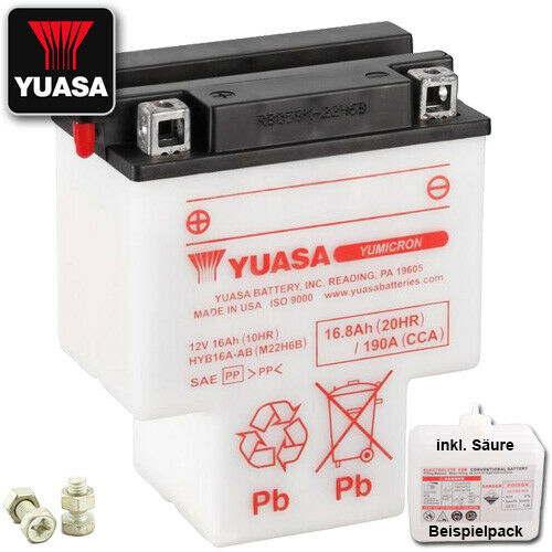 1988 Yuasa hyb16a-ab Batterie HONDA vt1100 C Shadow sc23 Bj