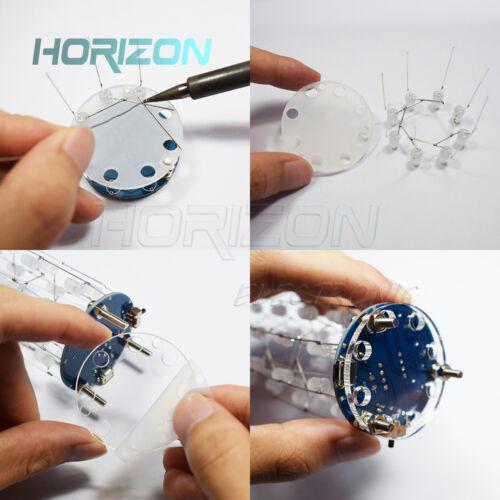 DIY make Christmas Star Flashing LED Cylinder Kit with 23 Breathing Effect