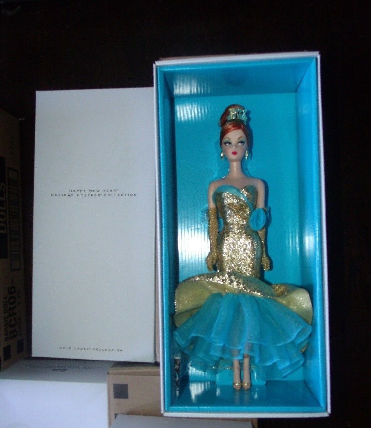 Happy New Year Holiday Hostess Collection Silkstone Barbie 2013 W Shipper
