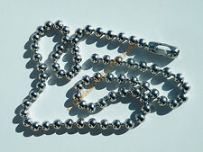 Collier Chaine Longue 71 cm Acier Inox Boules Dog 8 mm